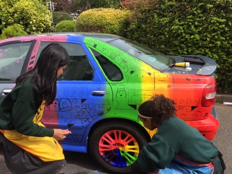 Car painting seabreeze festival weekend schools for Car painting school